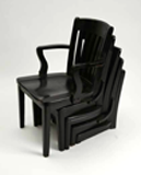 Five Black Corrected Chairs